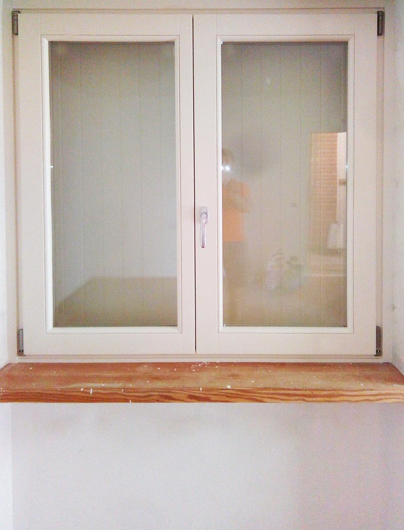 Serramento interno bianco - finestra doppia
